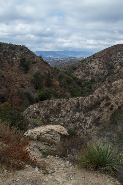 The view looking south west from the Sunset Ridge Trail, as it heads down into Millard Canyon.